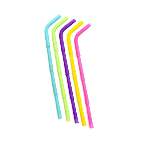 Big Bee, Little Bee Build-A-Straw Reusable Silicone Straws: Singles