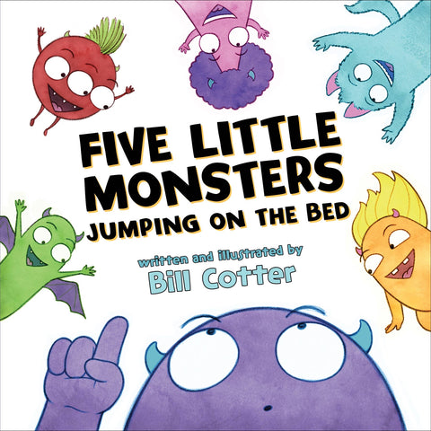 Five Little Monsters Jumping on the Bed (Board Book)