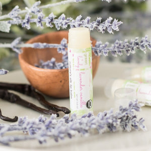 Load image into Gallery viewer, Green + Lovely Lavender Vanilla Lip Balm