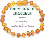 Healing Hazel Baby Ankle Bracelet - Now with Screw Clasp & Double Knotted Beads