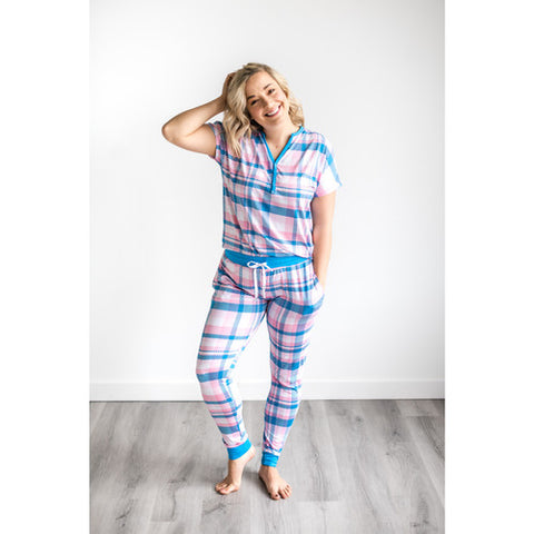 Little Sleepies Women's Bamboo Viscose Pajama Set - Rosy Plaid
