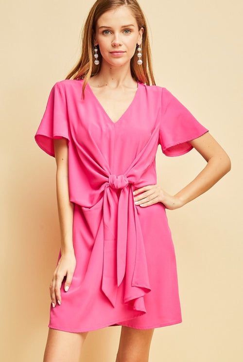 Hot Pink Knot Dress