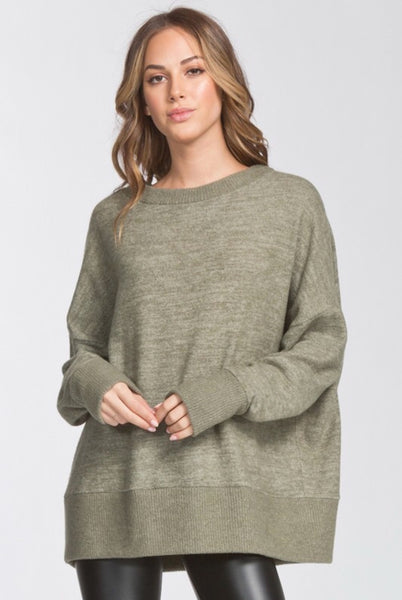 Soft Olive Tunic Sweater