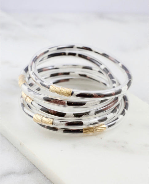 Leopard Lightweight Bangle Set