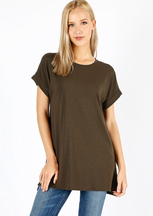 Dark Olive Knit Tunic