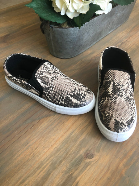 Snake Slip On Sneakers