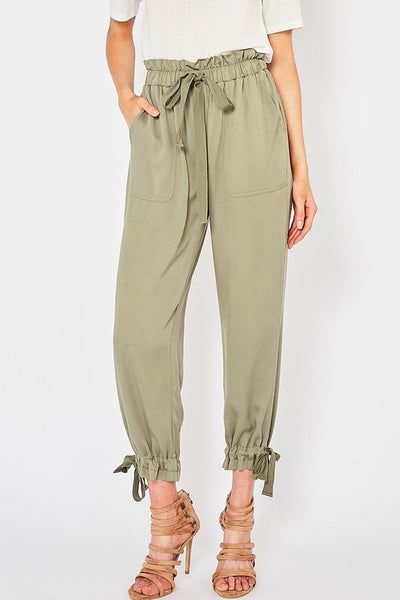 Army Hight Waist Cargo Pant
