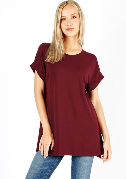 Dark Burgundy Knit Tunic