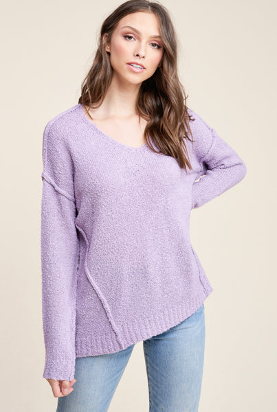 Lavender Textured Sweater