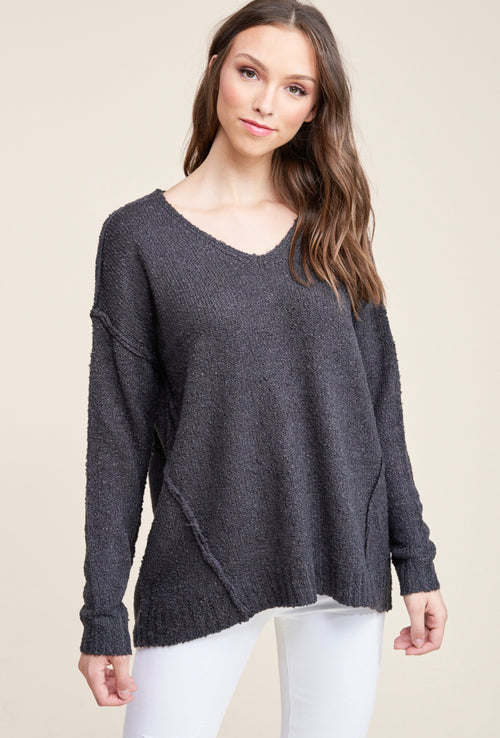Charcoal Textured Sweater