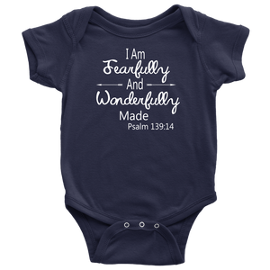 "BABY BOY/GIRL ""Wonderfully made"" ONESIE"