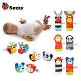 Baby Toy Set Bell Wrist Rattle & Foot Finder Socks