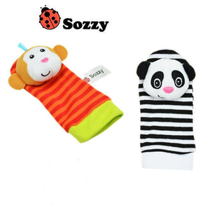Toys - Baby Toy Set Bell Wrist Rattle & Foot Finder Socks
