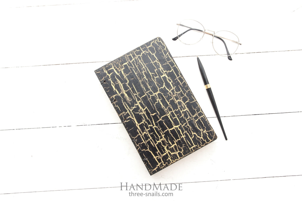 wooden business notebook