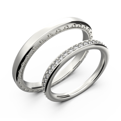 diamond wedding bands for him and her