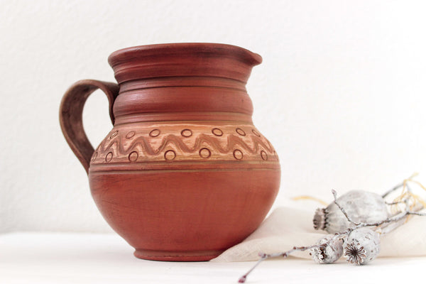 handmade pitcher
