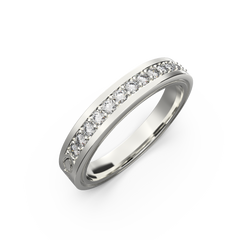 wide white gold wedding bands