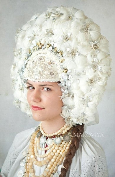 wedding feathered crown