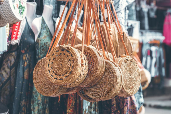 wicker ata round bags