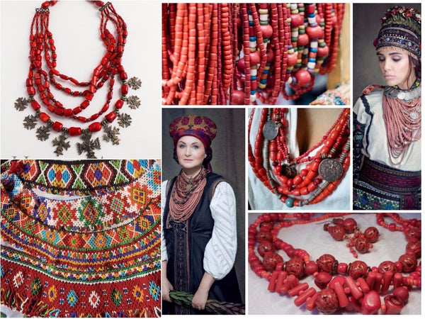Traditional ukrainian necklace