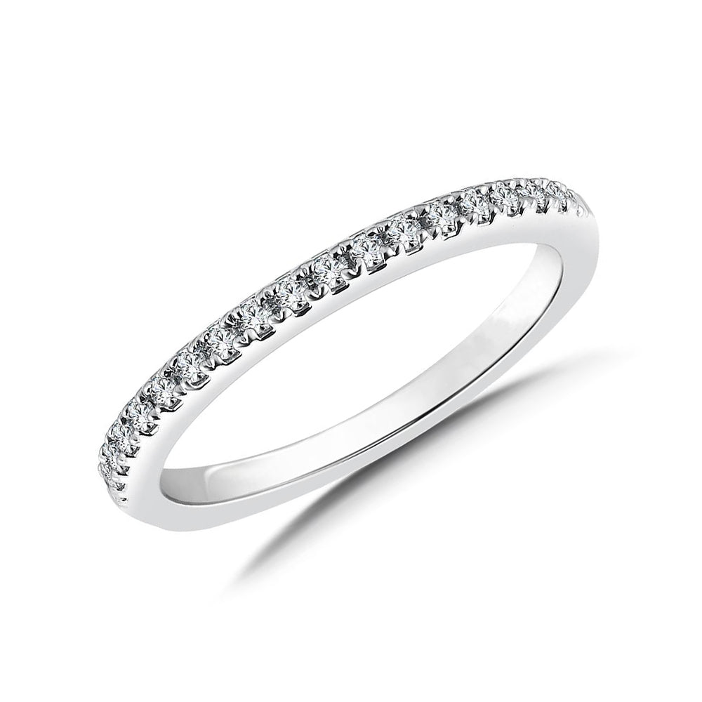 Gold half diamond eternity band 0.18 carat - 1