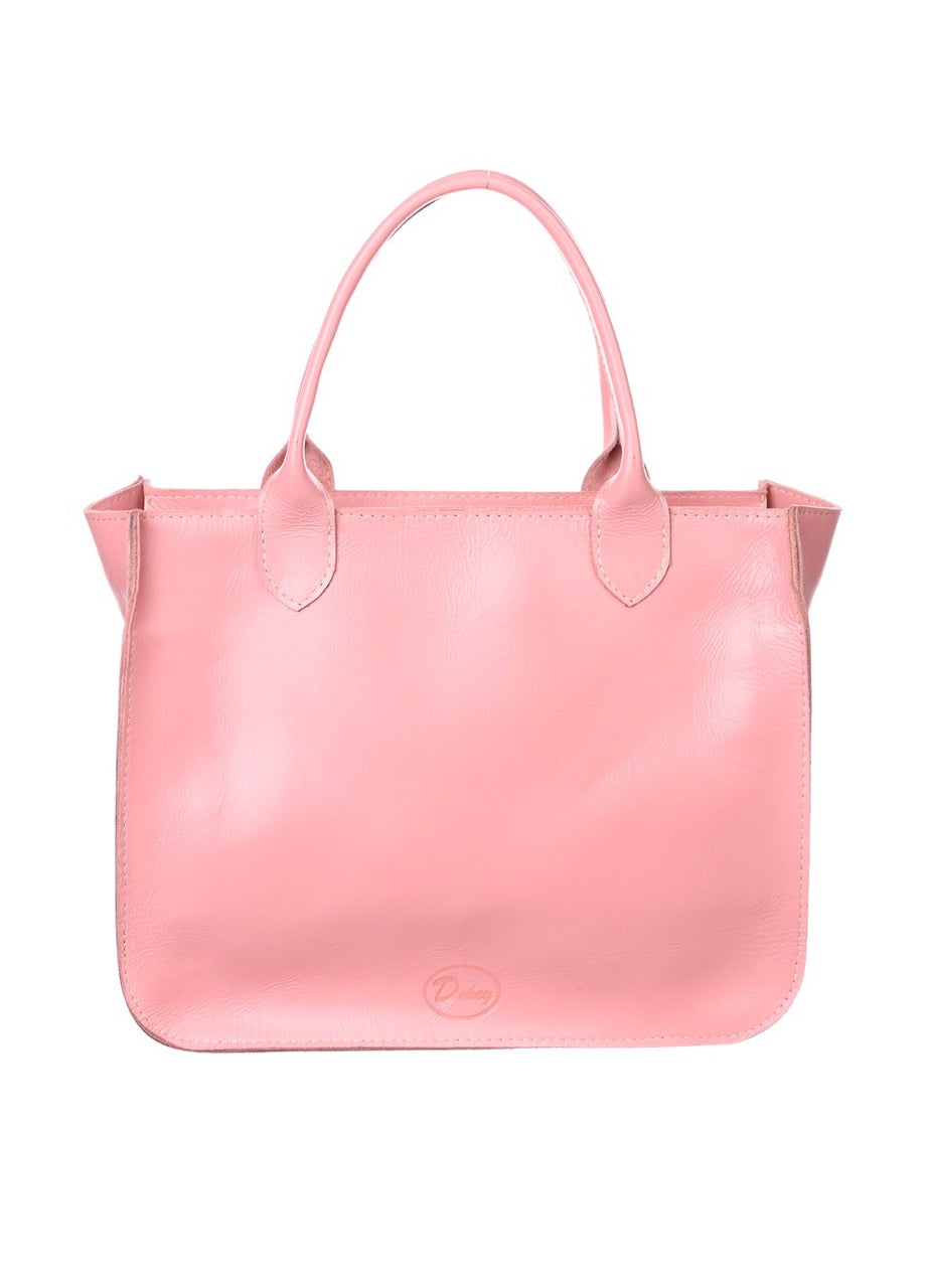 Leather pink tote - 3