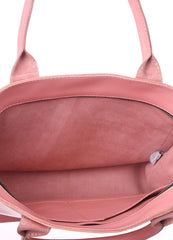 Leather pink tote - 2