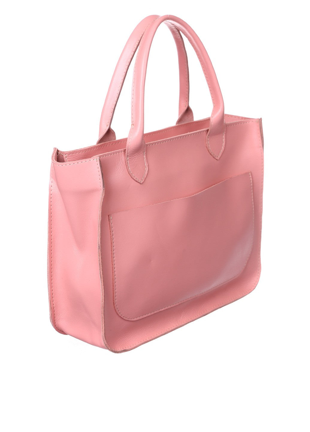 Leather pink tote - 1