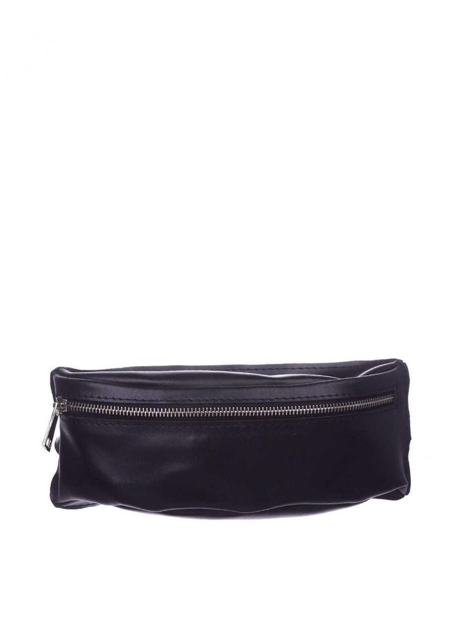 Black leather funny pack - 1