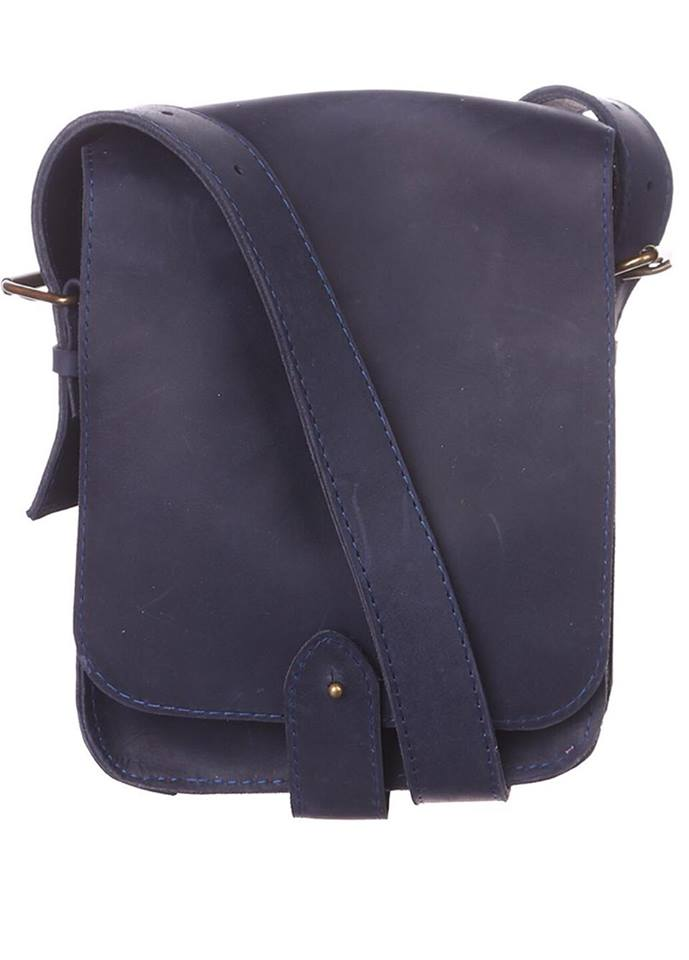 Men's leather messenger - 1