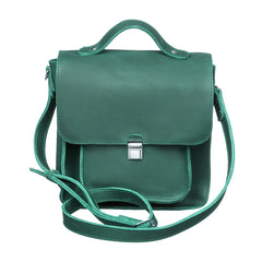 Square leather crossbody bag - 1