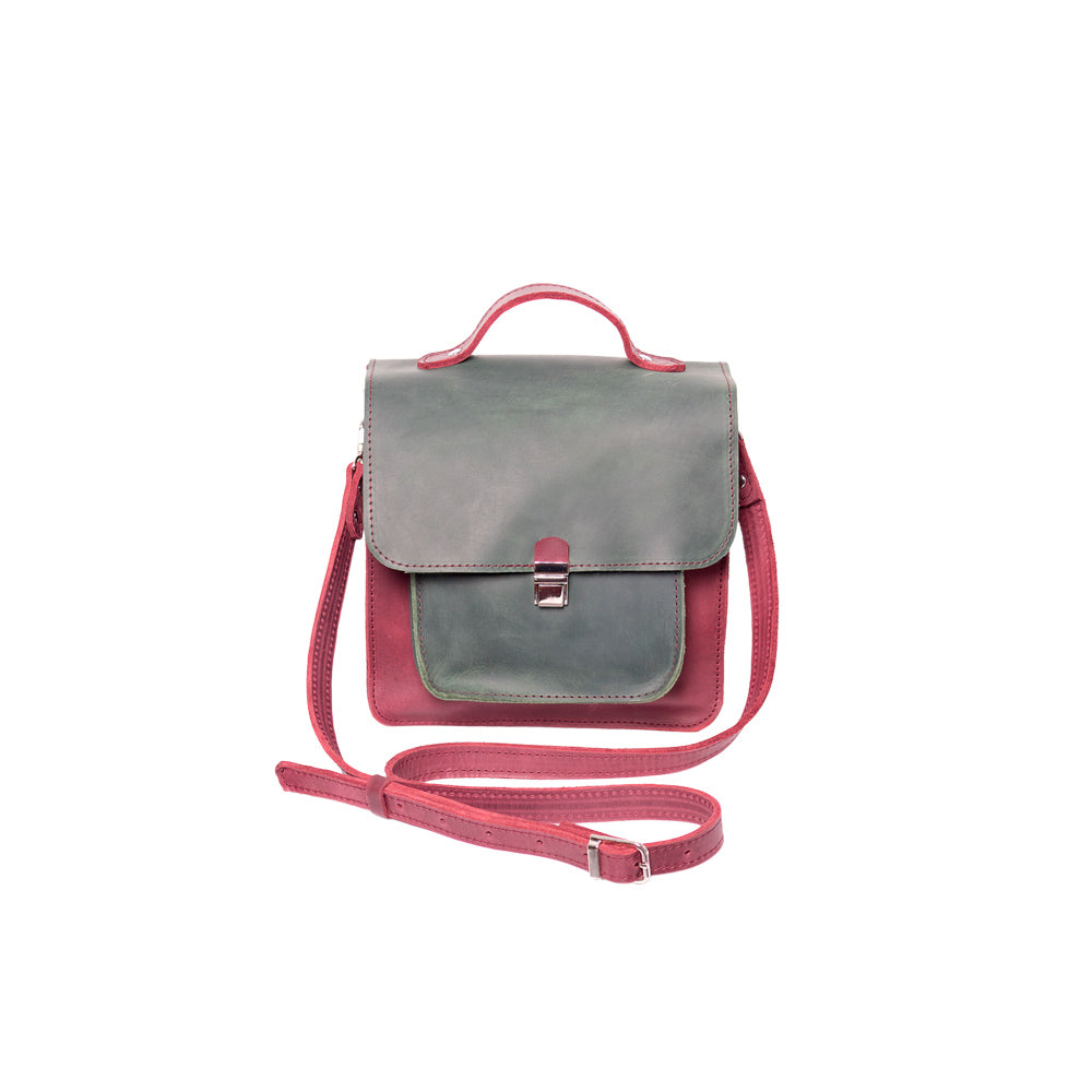Small cross body leather bag - 1
