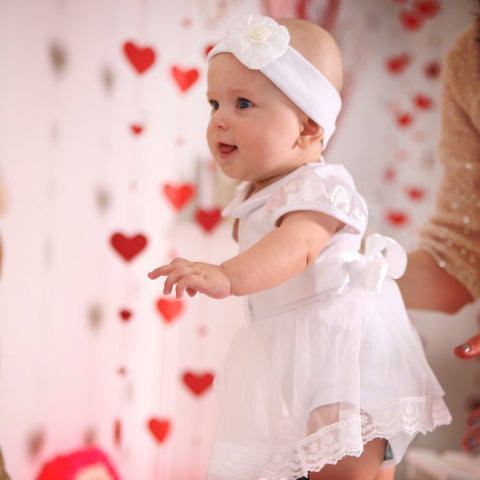 a050f582c White occasion baby dresses and elegant boy suits | Three Snails | TS