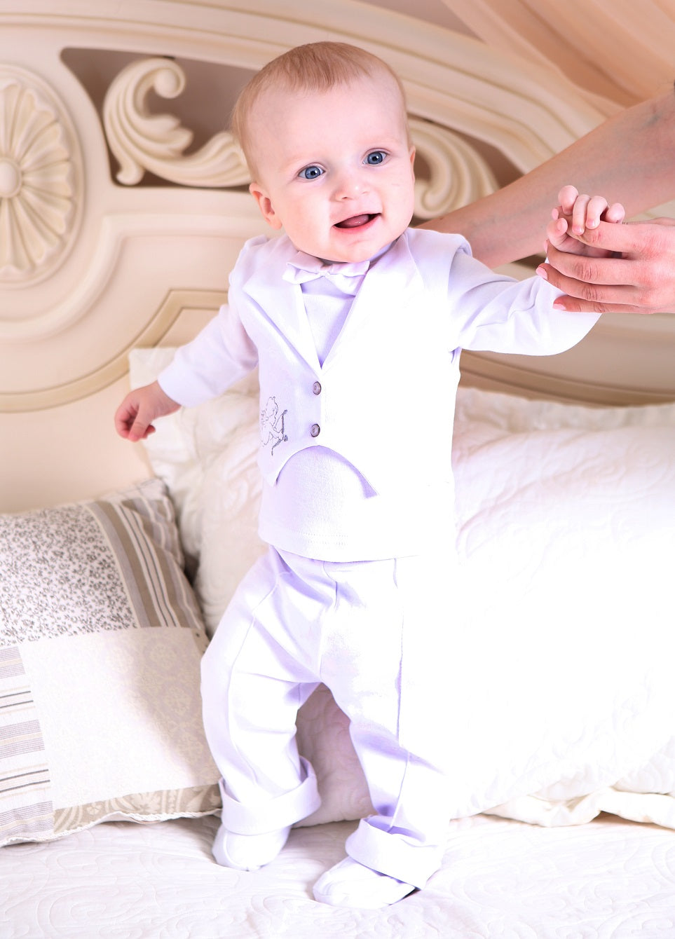 Baby boy suit christening set - 2