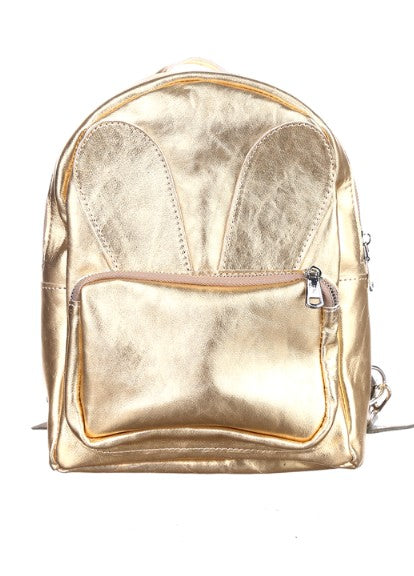 Gold backpack purse - 1