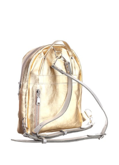 Gold backpack purse - 2