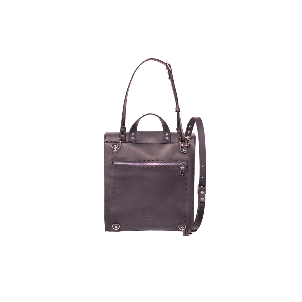 Square leather rucksack - 2