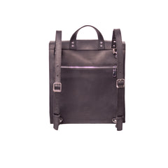 Square leather rucksack - 3