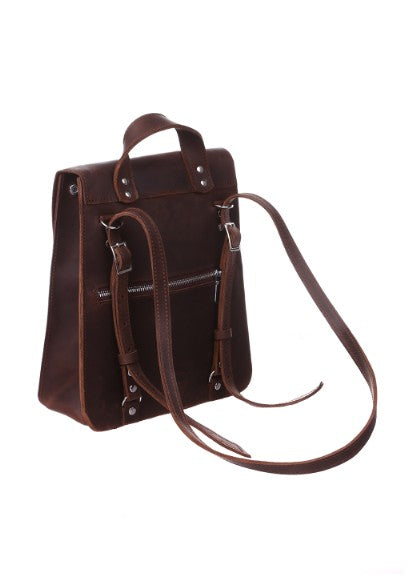 Ladies brown backpack - 2