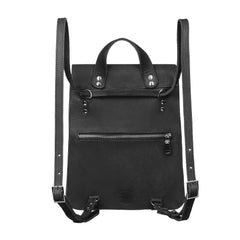 Stylish black leather backpack - 2