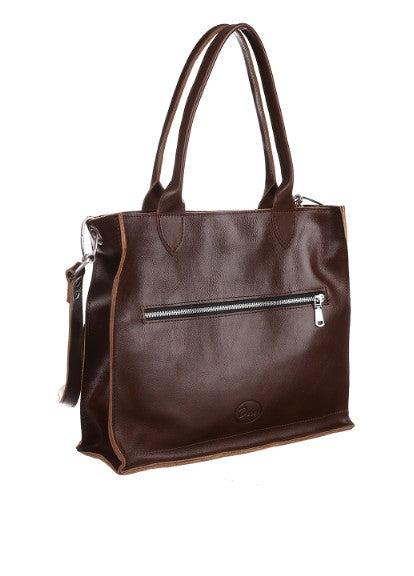 Dark brown leather bag - 2
