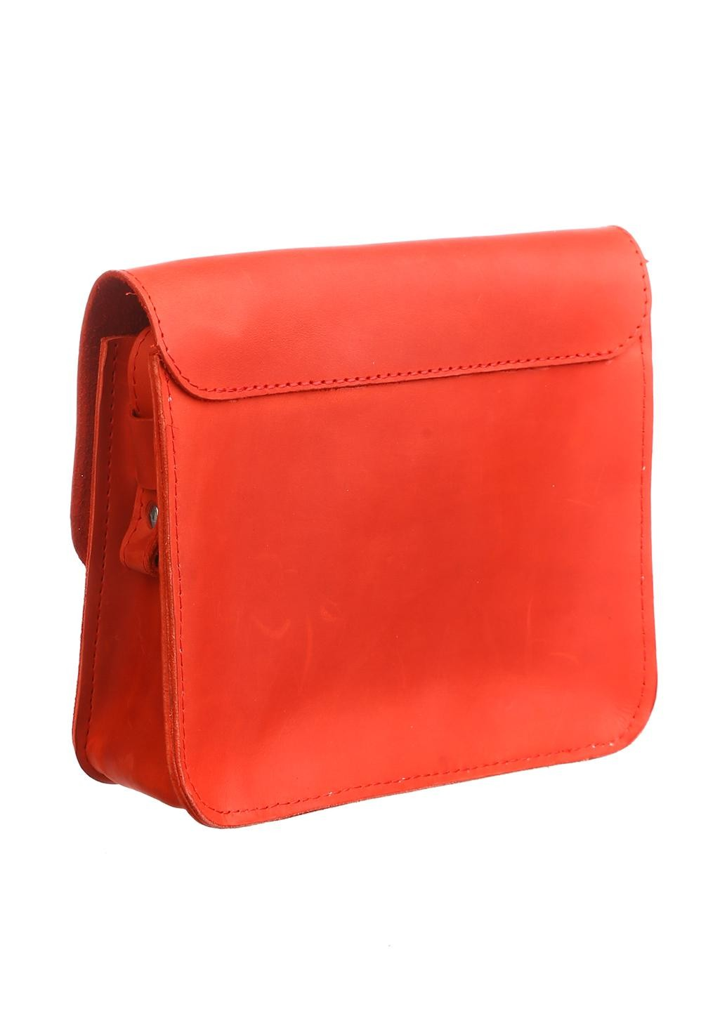 Orange leather purse - 2