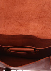 Orange leather purse - 4