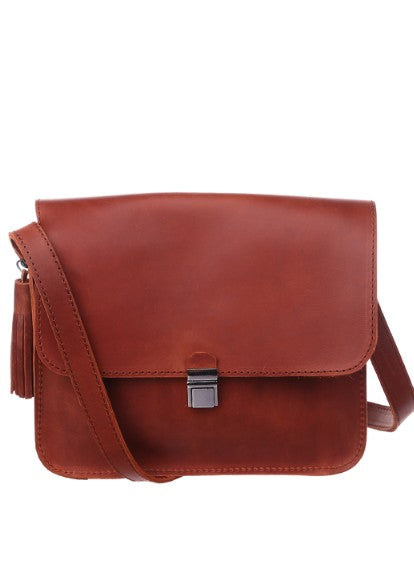Orange leather purse - 10