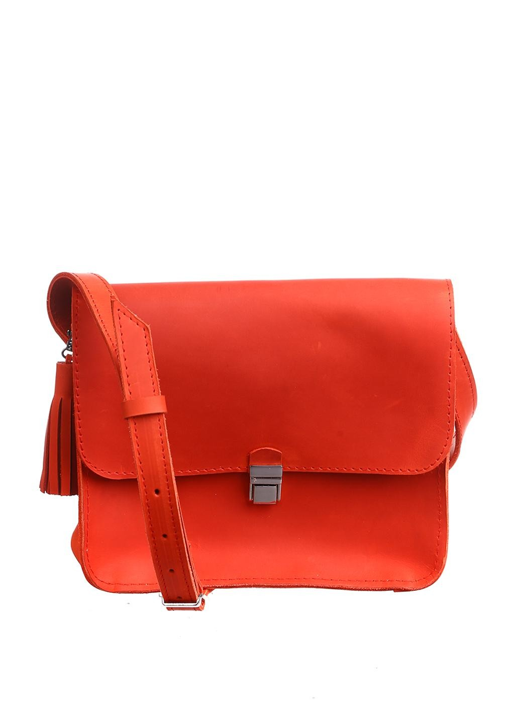 Orange leather purse - 1