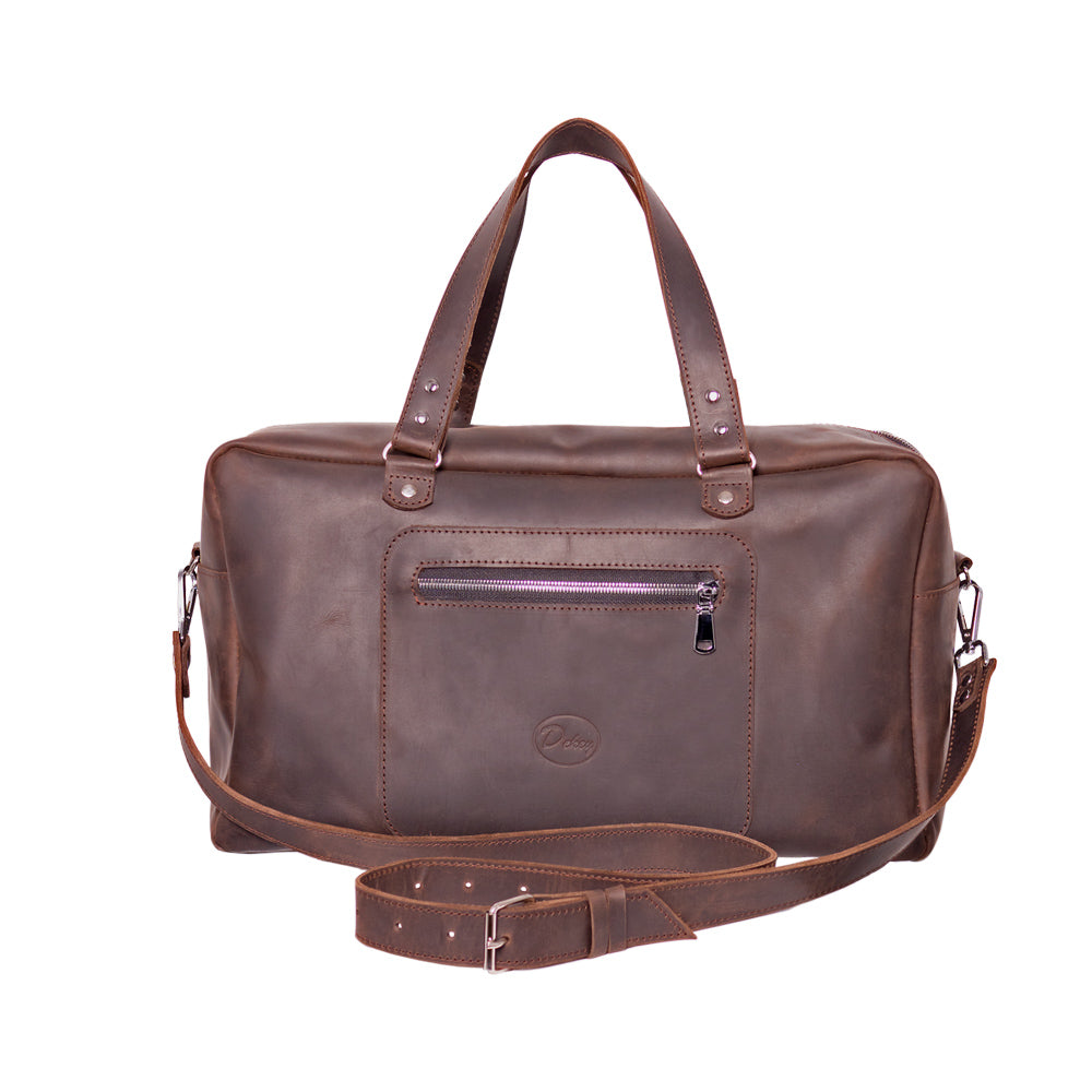 Brown leather duffle bag - 2