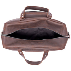 Brown leather duffle bag - 3