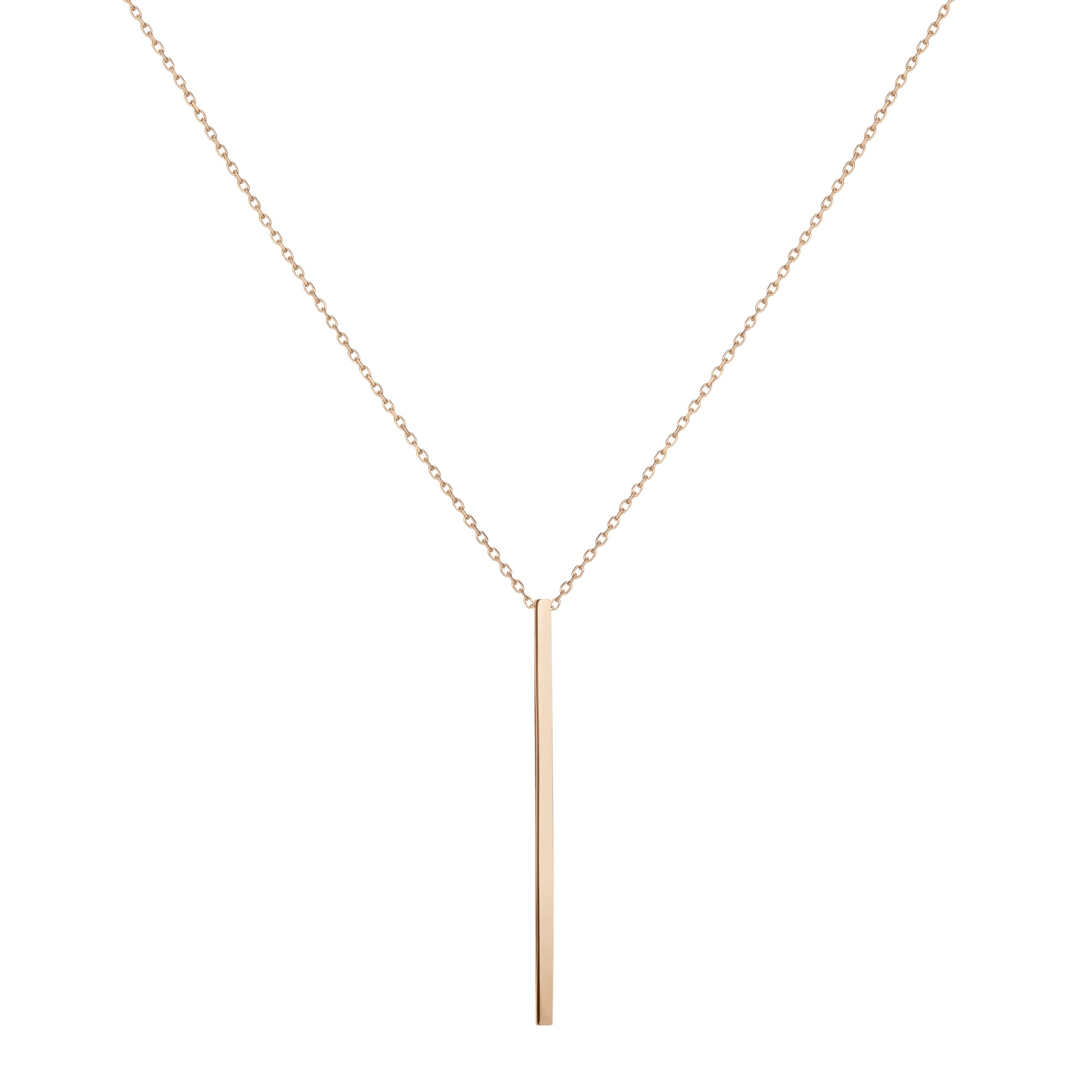 Long Gold Necklace - 1