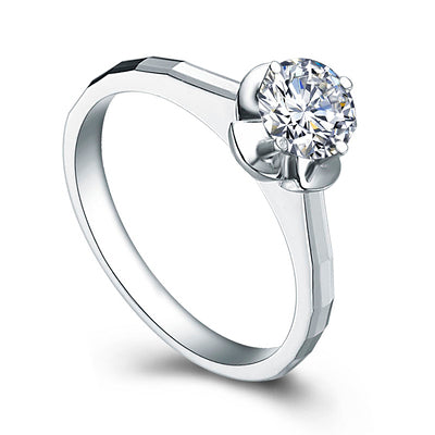 White diamond engagement ring - 1
