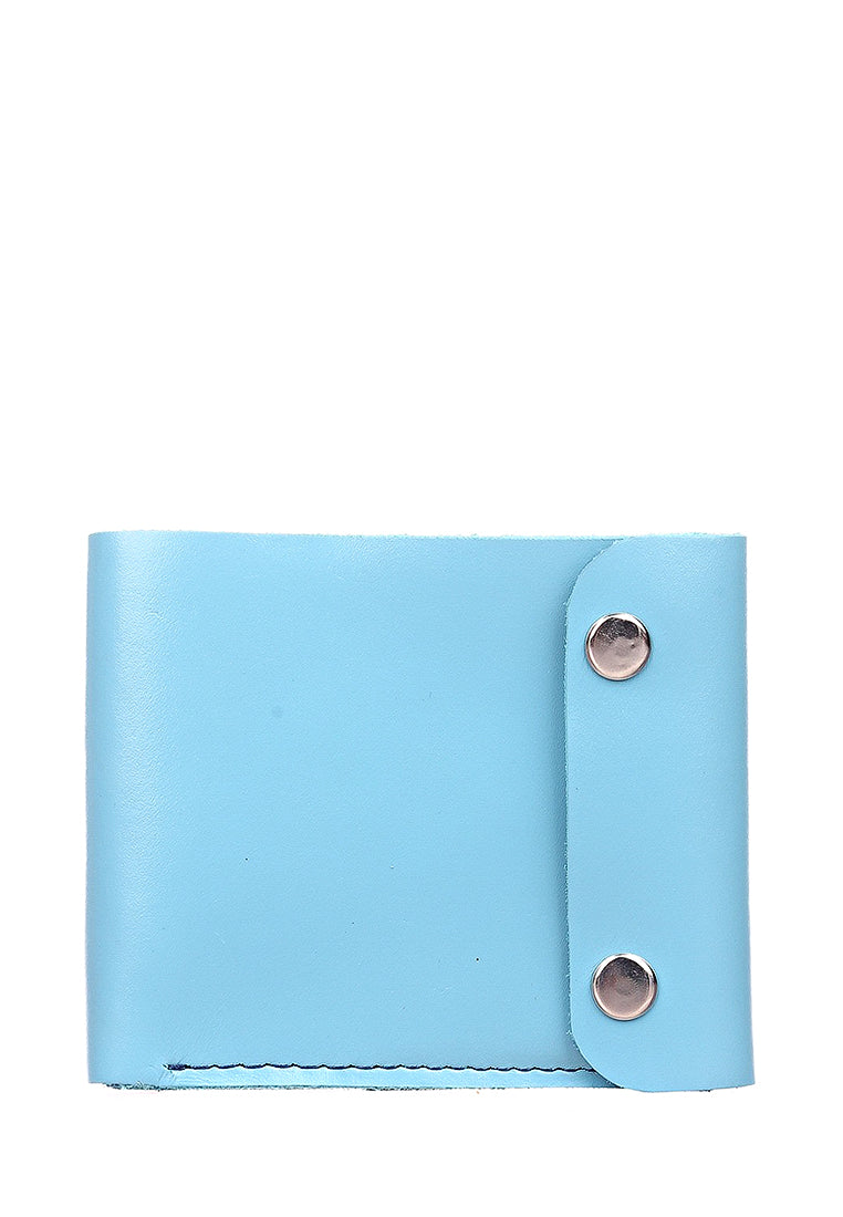 Blue leather wallet - 1